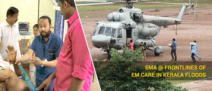 EMA @ Frontlines of EM Care in Kerala Floods